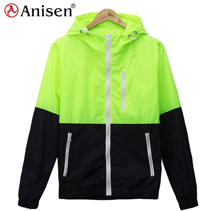 custom bright color polyester hoodies windbreaker waterproof men jacket