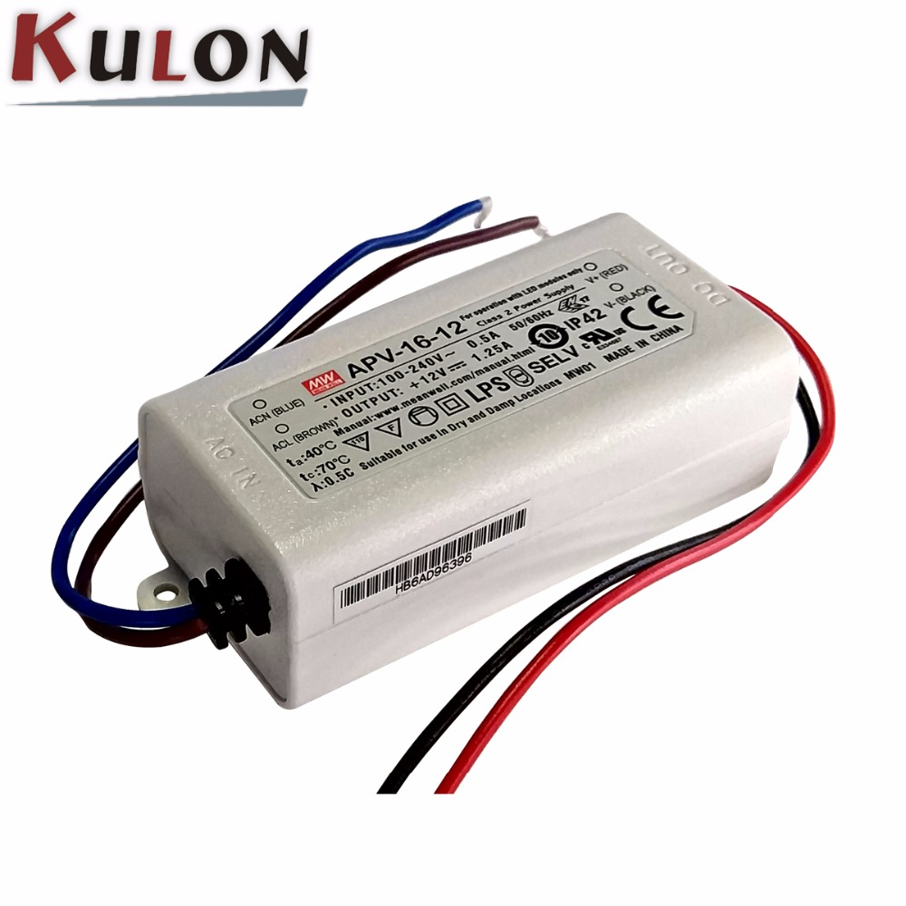 Constant Voltage Mean Well APV-8-12 AC-DC Single Output LED Driver