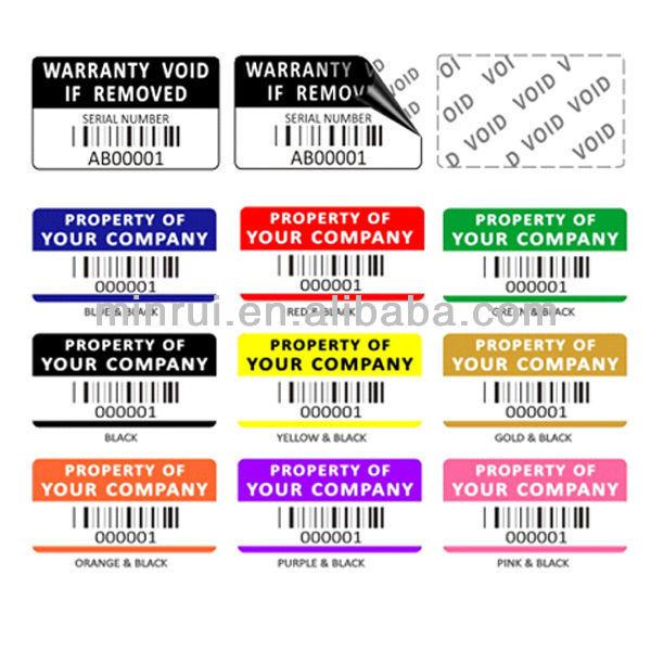 Etiquetas De Activos De Inventario Laptop Etiquetas De