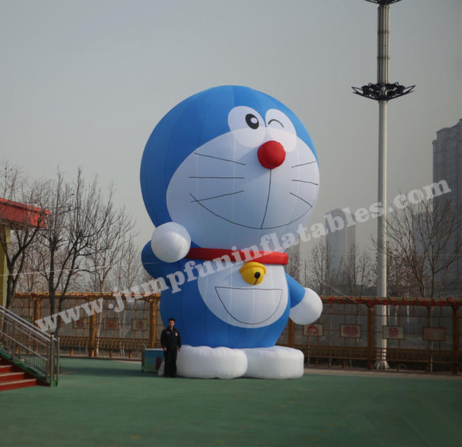 Giant Inflatable doraemon custom {JUMPFUN} cheap large inflatable cartoon doraemon balloon for advertising