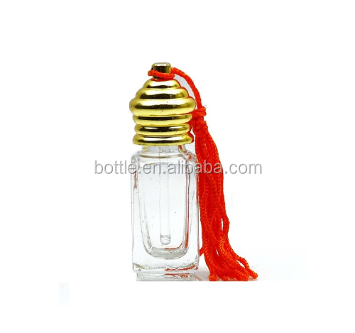 4 ml wholesale aromatherapy bottles with golden cap refillable essential oil attar bottles 6 pcs