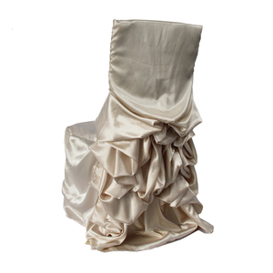 YT07452 satin grey chair covers for a wedding church chair covers