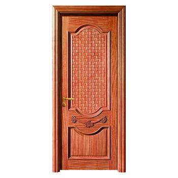Solid Wood Door Fire Proof Sound Proof Door Foshan Factory