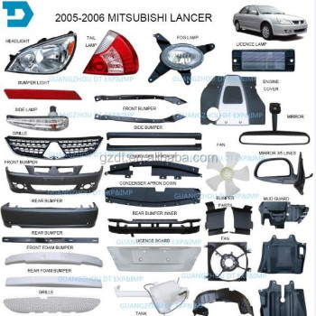 2005 2006 mitsubishi lancer headlight taillamp and body parts
