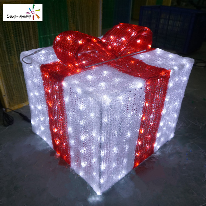Outdoor Led Christmas Gift Boxes Outdoor Led Christmas Gift Boxes  - Lighted Christmas Boxes