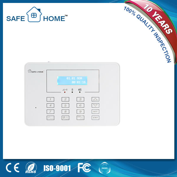 LCD Touch Keypad Wireless Alarm System,29 wireless zones and 8 wired defense zones intelligent alarm system K3
