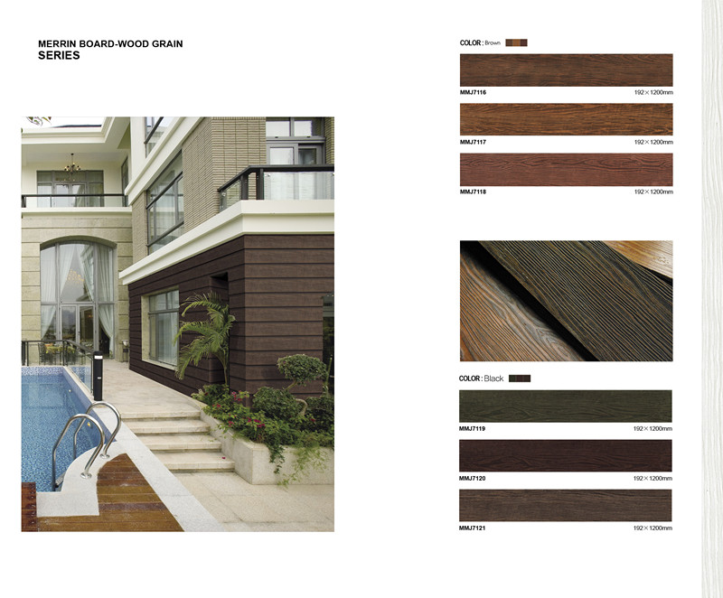 Wood Textured Cement Siding Mobile Home Fiber Cement Wall Paneling ...