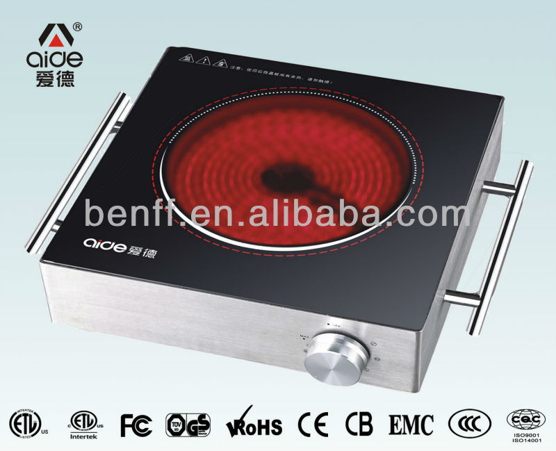 single/double ring heater, 2000W, handle type electric cooking hot plate