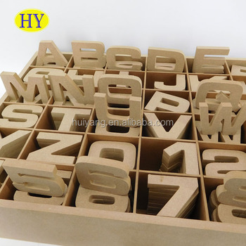 Cheap Unfinished Wooden Letter and Number Set with Box Wholesale