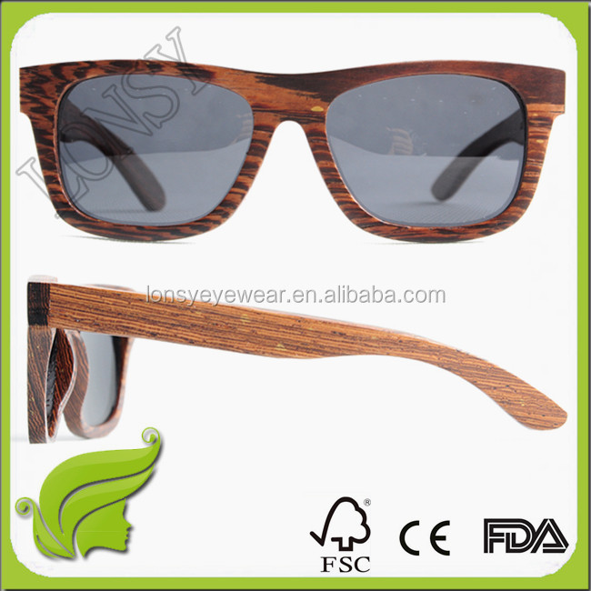 2016 New Product Spring hinge recycled resin/wood/acetate sunglasses LS3023-C1