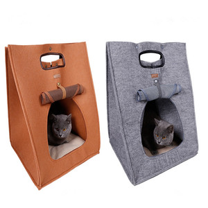 Hot amazon 2018 Super Soft Double Pet Cat Dog House Outdoor for Sale