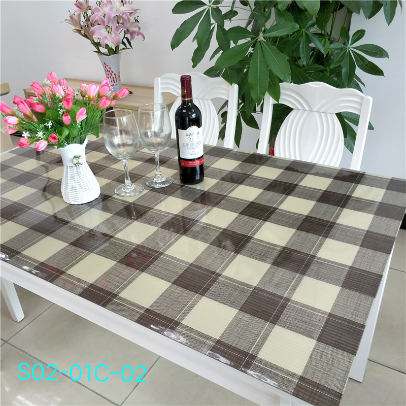 Wholesale PVC Vinyl Tablecloths With Flannel Back