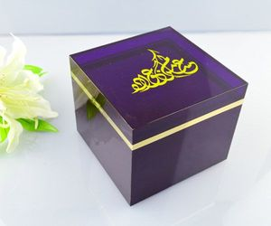 colored acrylic cube custom counter display tea box with lid