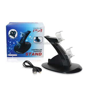 Without LED USB Controller Fast Charging Dock Station Rapid Flash Stand Charger Dock for PS4 Controller