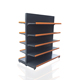 Double sided super shop retail display racks