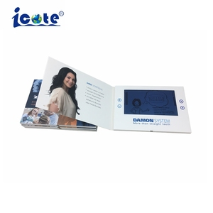 2018 Video Brochure LCD Greeting Card For Product Promotion