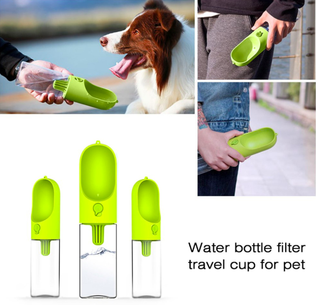 400ML portable pet dog water Bottle Pet Plastic Bottle for Drinking Water