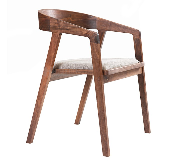 Good New Design European Style Wooden Cafe Chair With Cushion, Dining Room Chairs