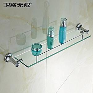 "W&P Bathroom rack-mounted chrome 605x120x90 mm (23.8 ¡¥ X4.72 ¡¥ X3.54 "") brass/Crystal modern"
