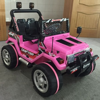 Pink Color Ride On Car Jeep Kids Toy Automatic For