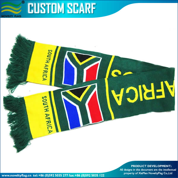 Jacquard knitting pattern scarf football fans