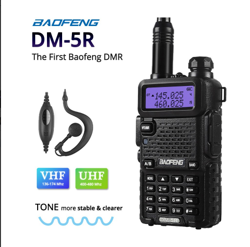 Baofeng uv 5r dmr digital 2-way rádio dual band vhf uhf dmr walkie talkie