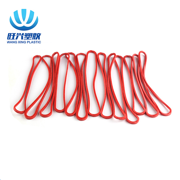 Flexible red color elastic rubber bands