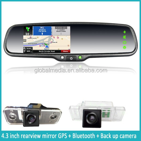 New Car Rearview Mirror Smart Car Gps Navigation With Multimedia