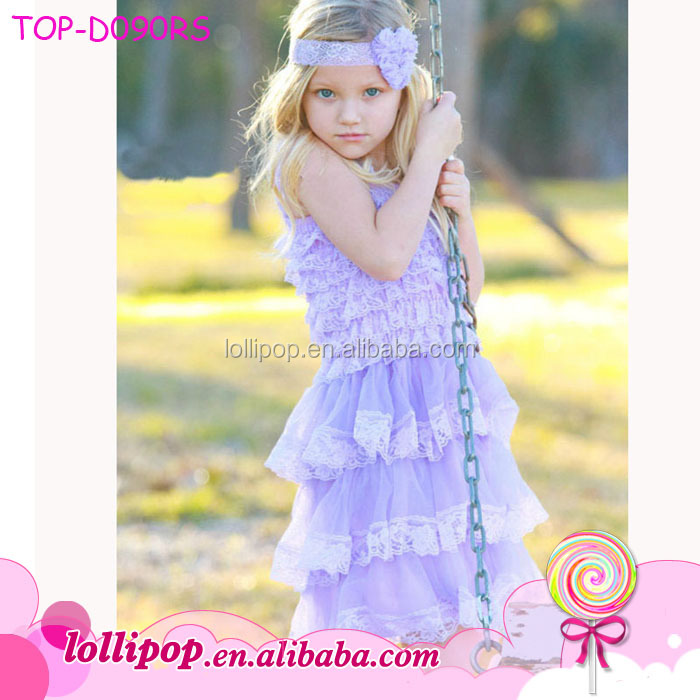 Wholesale lace spaghetti strap communion dress fancy lilac christening baby girl smocked christening gowns