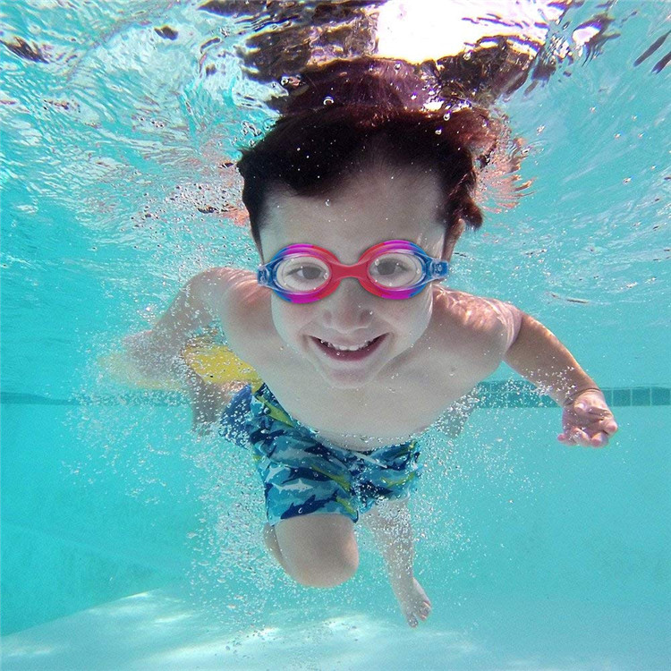 Wholesale silicone mirrored anti-fog goggles for swimming protection swimming goggles for kids