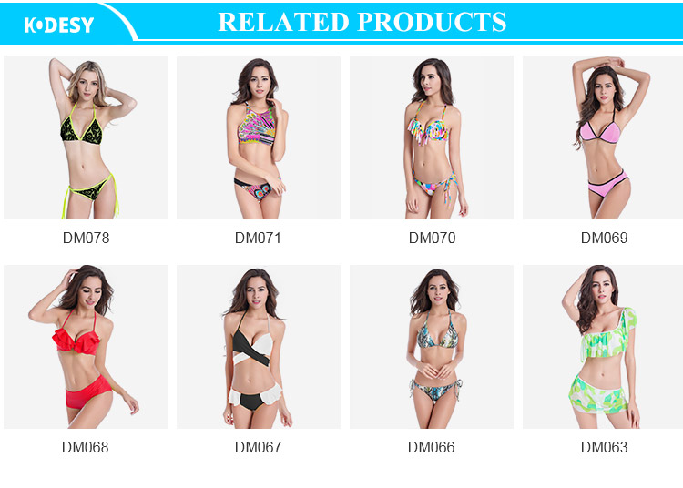 Wholesale Explosive Bikini Women Fashion Swimsuit One-Piece Printed Bikini