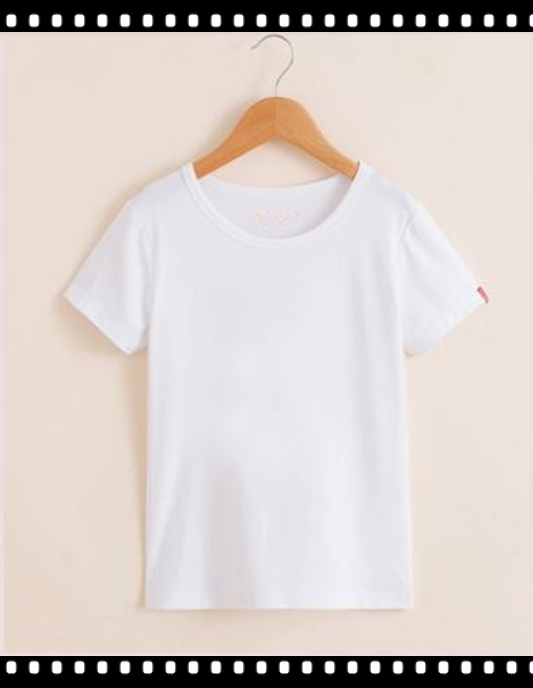 Light Weight Cotton Soft Kids Plain White T-Shirts