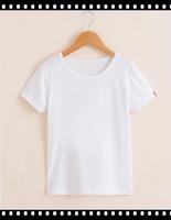 Light Weight Cotton Soft Kids Plain White T-Shirts