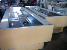 Fish freezer display counter 2.5m top open factory