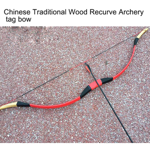 Chinese Traditional Wood Recurve Archery Tag Bow and Arrow B39 for Outdoor Game