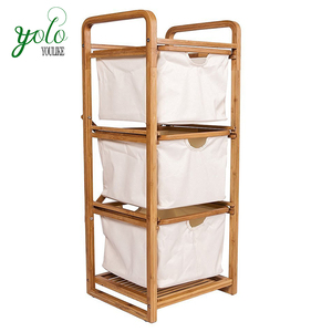3 tiers 100% natural bamboo rack & storage shelf