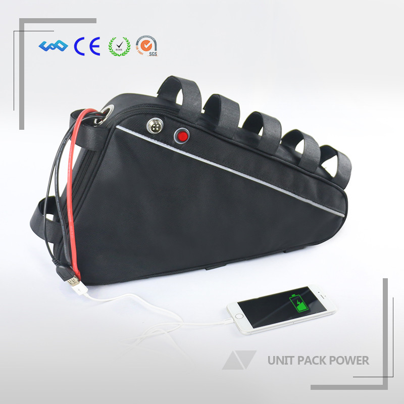 With Charger and Black Bag Powered 48V 1000W Enduro 18650 Li-ion Electric Bike Triangle Battery 48V 16Ah