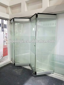 New Product Interior Frameless Glass Folding Door System Stacking ...