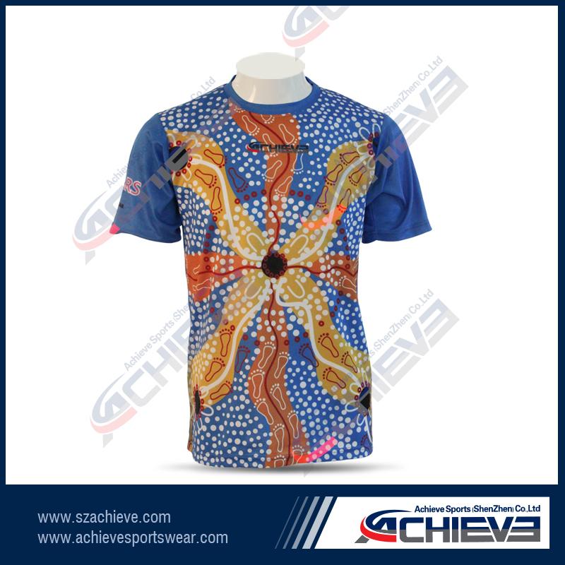 Men 39 s cotton jersey sublimation print t shirt buy t for Sublimation t shirt printing companies