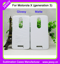 JESOY Wholesale White Blank 3D Sublimation Phone Case For Motorola G2 Covers Cases