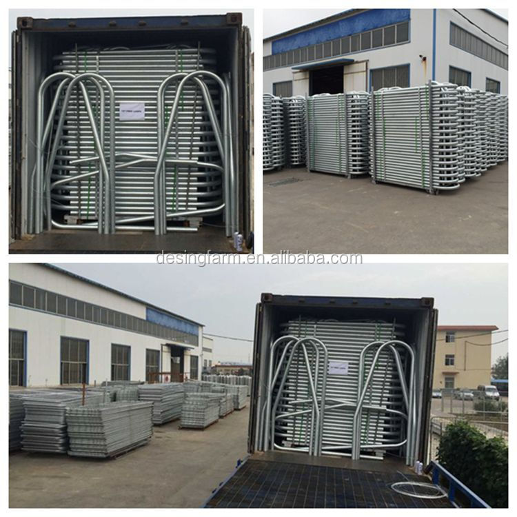 Heavy duty portable metal horse fence panel for sale
