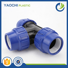 Pn16 Pp Pe Compression Fitting Equal Tee, Hydraulic Tee Fittings, Tee Pipe Fitting