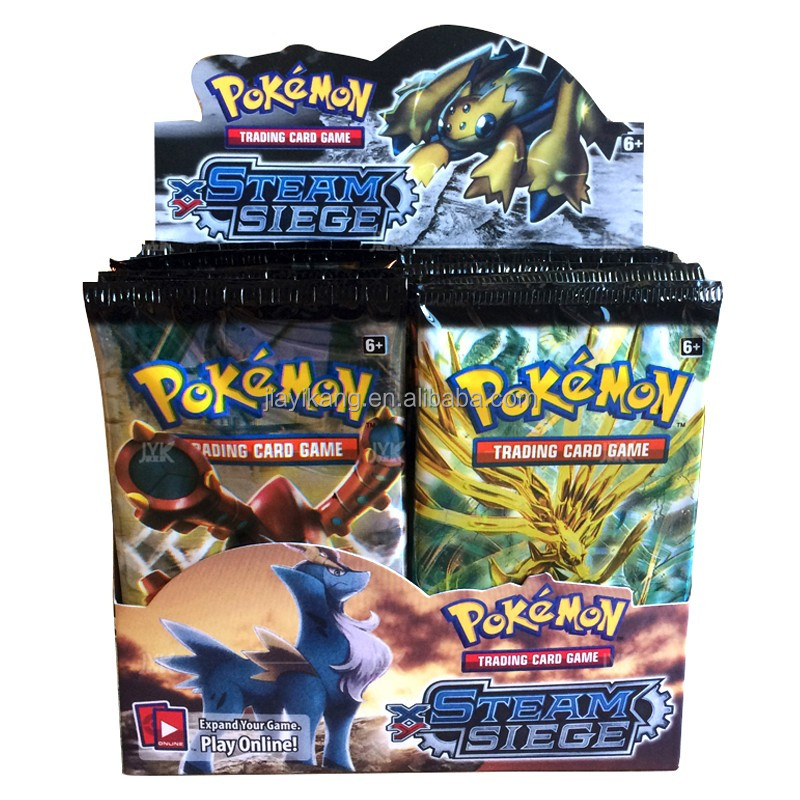 Pokemon TCG Card Game XY Steam Siege New Sealed Booster Box - 36 packs of 10 cards each