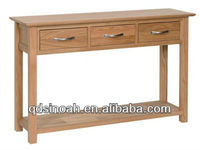 New Oak range Console Table 3 drawers/NT25