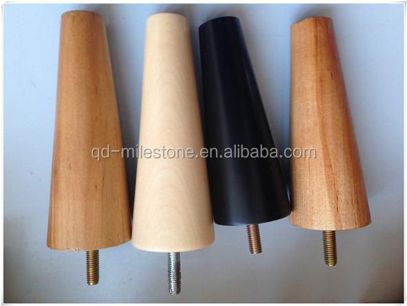 Cheap Wood Furniture Parts Unfinished Wood Furniture Legs/Sofa Leg/Parts