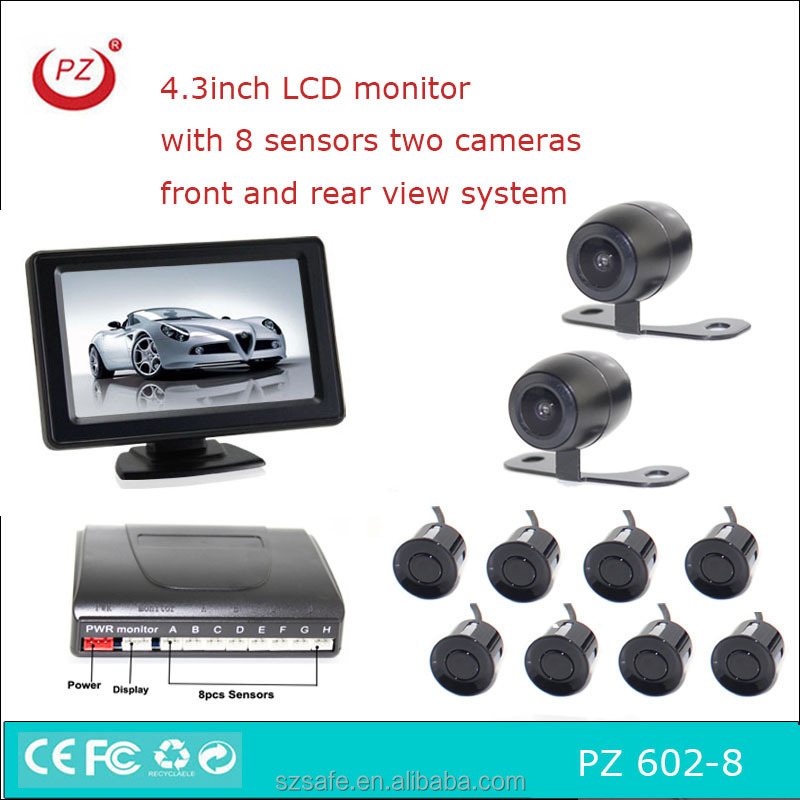 4.3 inch LCD display with reverse camera and parking sensor