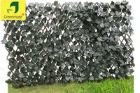 Cheap polyester material artificial leaf fence