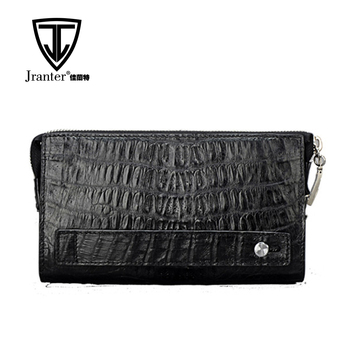 Handmade Genuine Caiman Leather Clutch Bags Man Men's Clutch Handbag