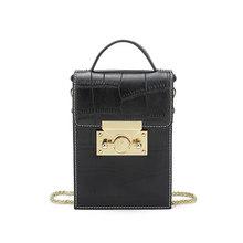 Женские сумки через плечо DOODOO, брендовые сумки через плечо с узором из крокодиловой кожи, 2018, женские сумки-мессенджеры с цепочкой, 2 вида цве...(Китай)