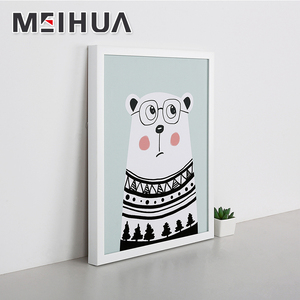 Hot sale Framed printed canvas art fabric wall art- Cartoon